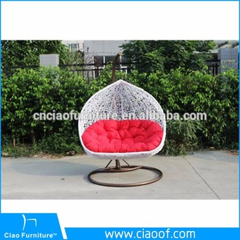Outdoor Rattan Hanging Chair Two Seat Swing Chair