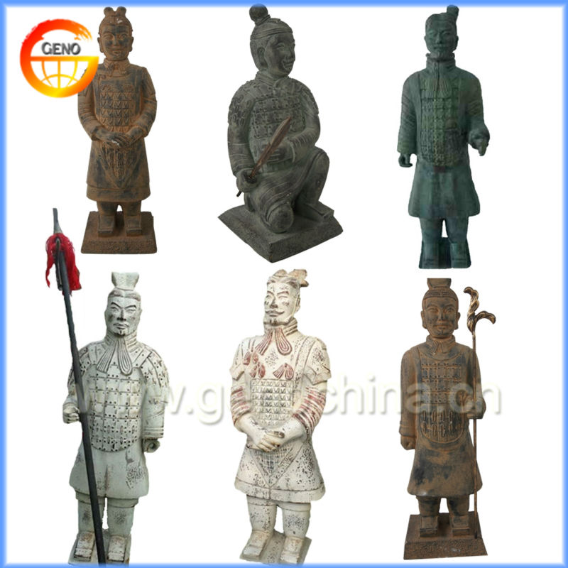 High Quality Bronze Warrior Statues for Terracotta Warriors Souvenir