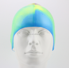 Promotional logo printed custom silicone ear protection swim cap