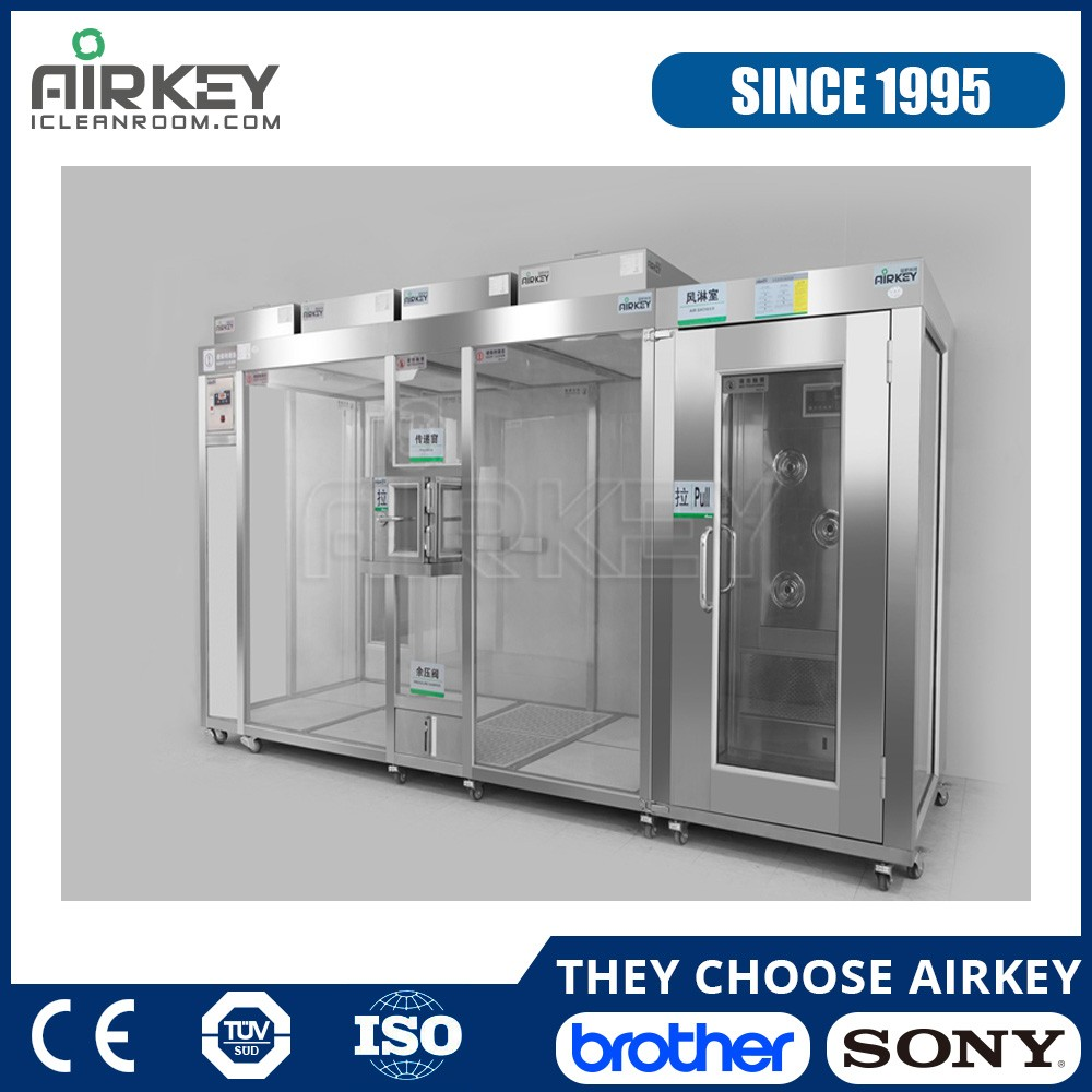 ISO 5-7 Modular Portable Cleanroom with Air Shower and Pass Box