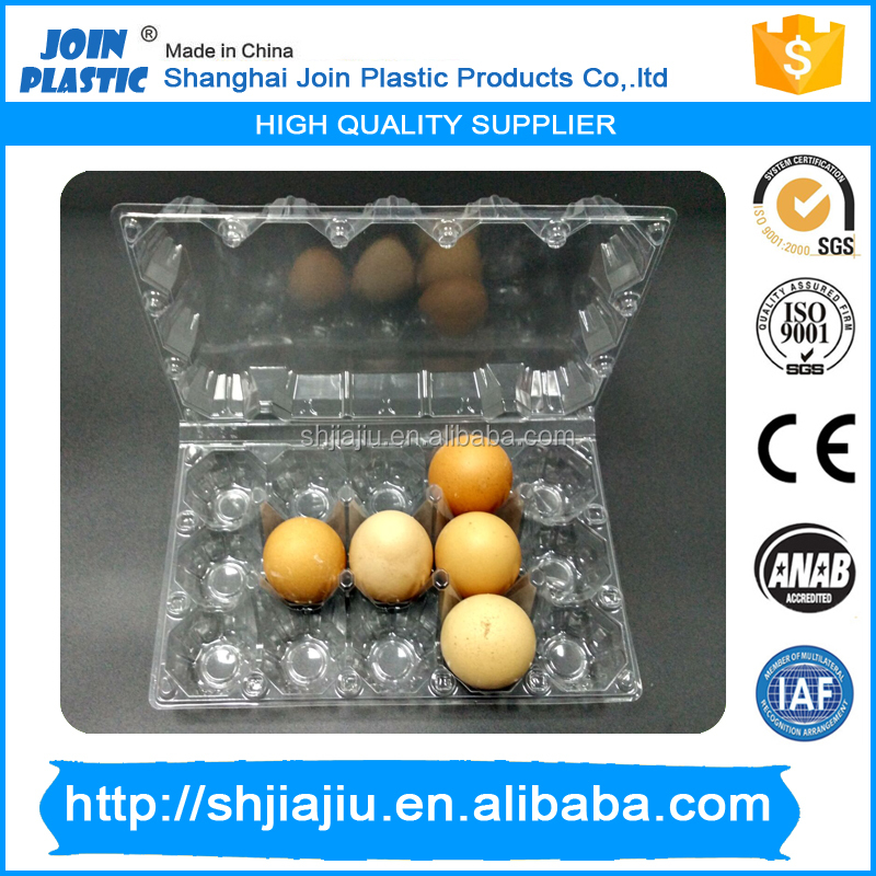 clear plastic tri-gold egg cartons and 15pcs egg tray