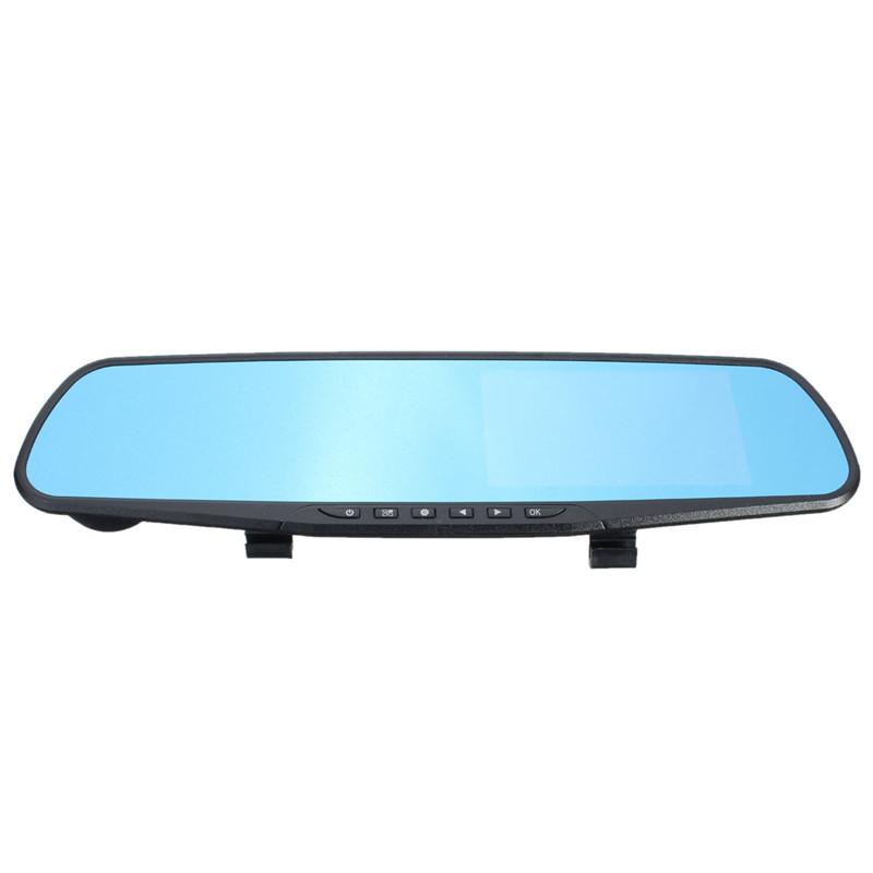 70 град. Full HD 1080 P 4.3 дюймов видеокамера даш Cam зеркало заднего вида автомобильный видеорегистратор камеры 1920 x 1080 P лучшая цена
