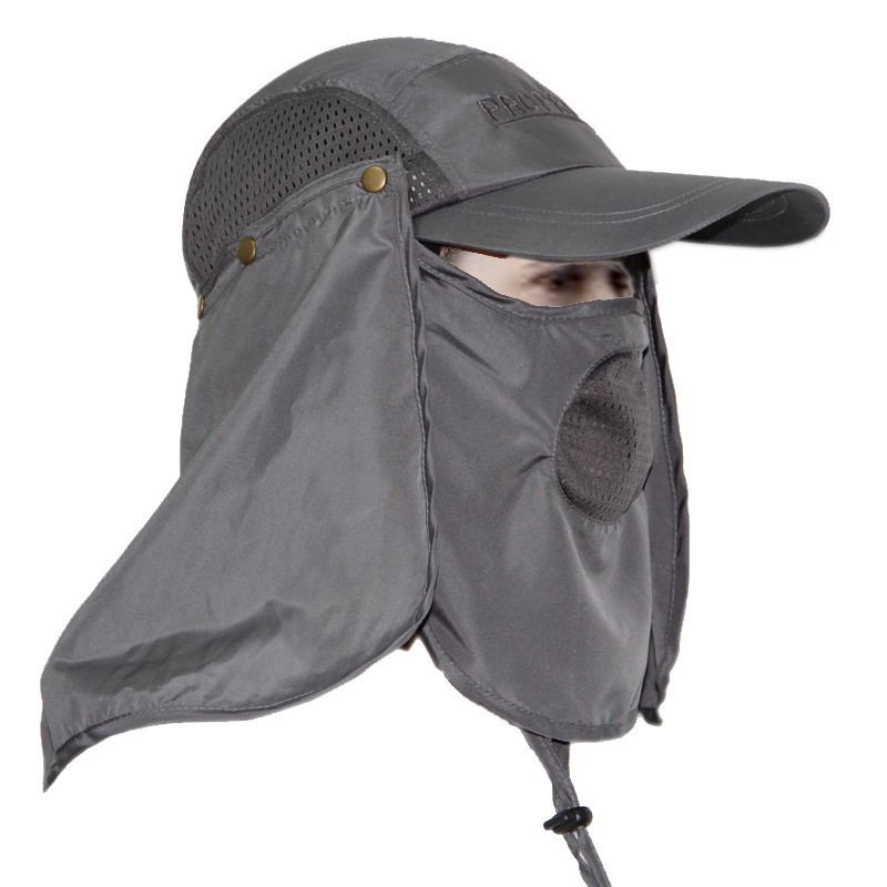 Removable Flap Cap Sun Shield and Mask Perfect for Fishing Hiking Garden  Work Outdoor Activities a6471ea2961