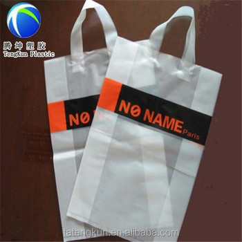 packing plastic bag for clothes packaging bag with handles