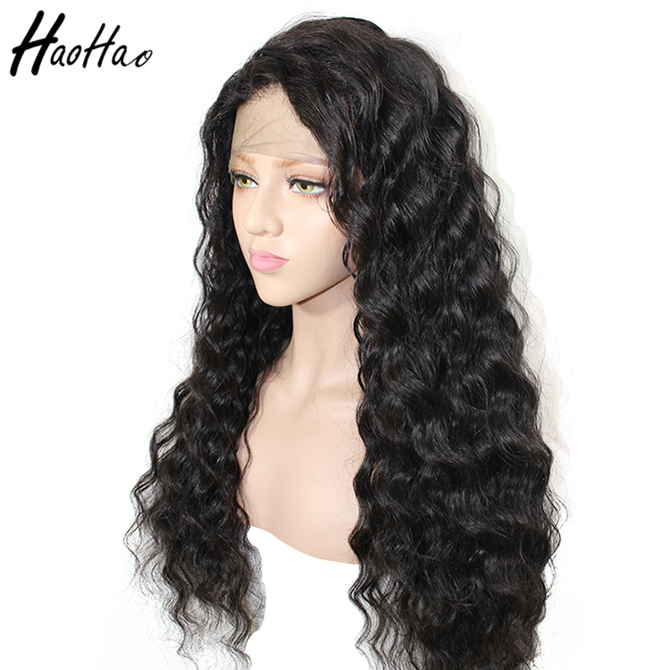 Brazilian deep wave curly lace front wig human hair wig
