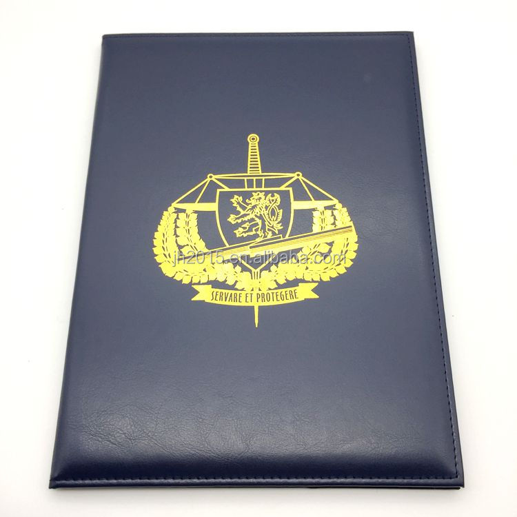 certificate holder Type and PU Material leather certificate holder diploma cover