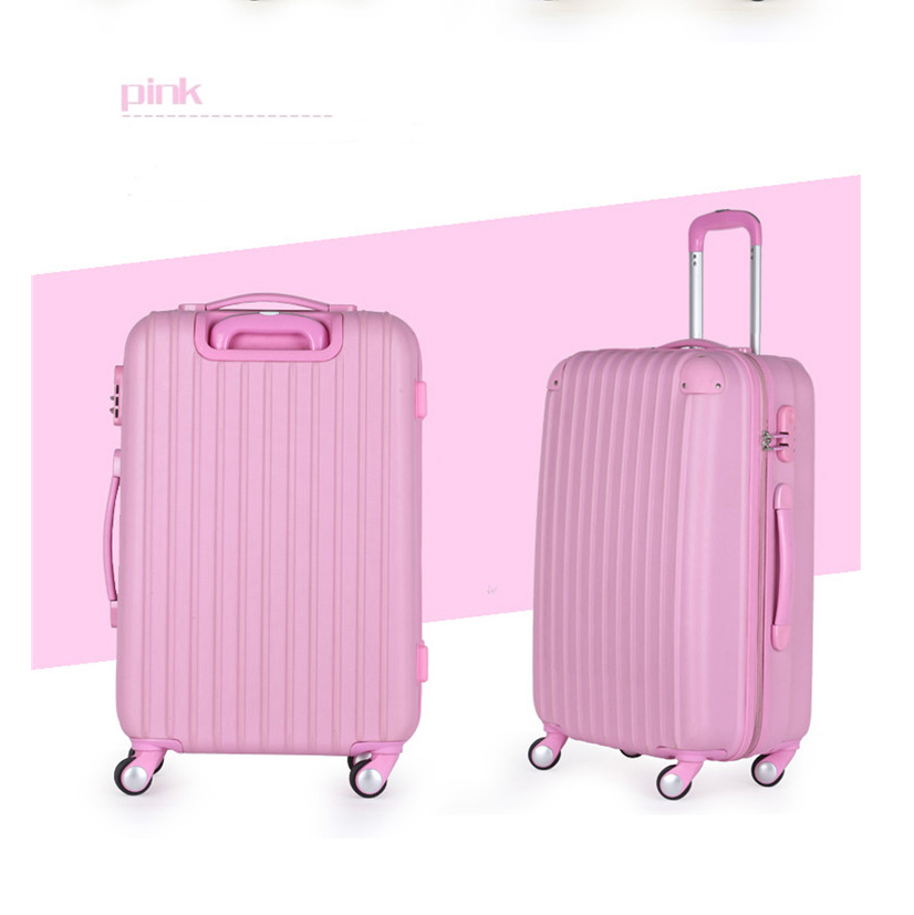 ABS 3 pcs set eminent aircraft airplane wheel hard shell drawbar airport zipper mini pretty laptop computer suitcase