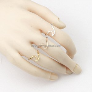 European and American fashion simple beach wave opening adjustable ring