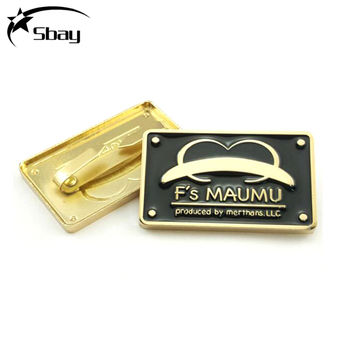 37854d3388d1 Enamel Customized Logo Metal Labels Tags For Clothing Handbag - Buy ...