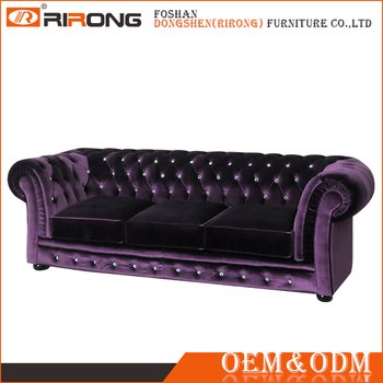 Foshan Furniture Multi Colors Velvet Chesterfield Sofa Replica