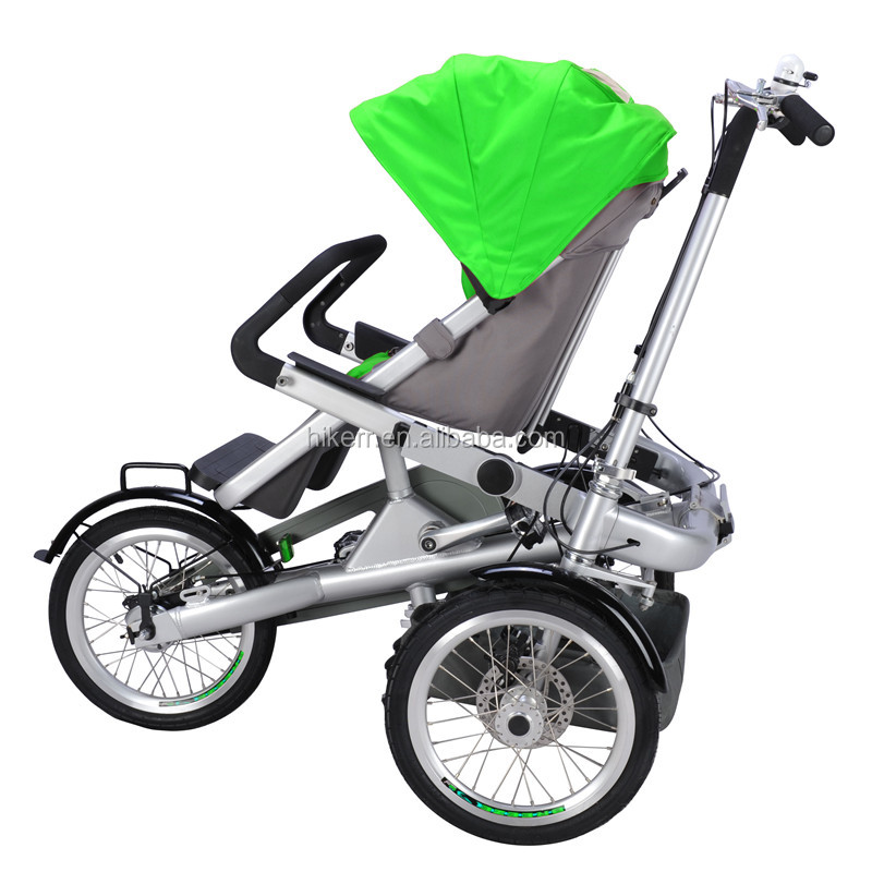 Cheapest China Folding Mother Baby Bike Kids Stroller Shimano Inter 3 Speed Gears Tricycle Pram T07-1G Jogger