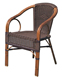 Leisure Modern Outdoor Garden Furniture Rattan Cheap Iron Chair
