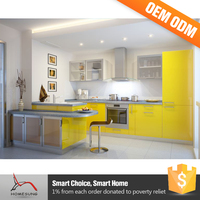 Modern Yellow Kitchen Cabinet