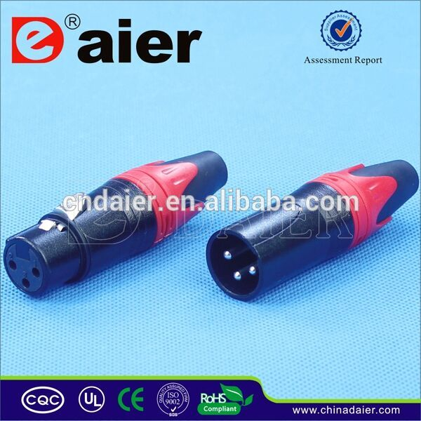 Berwarna 3 Pin Male To Female Jack XLR Konektor
