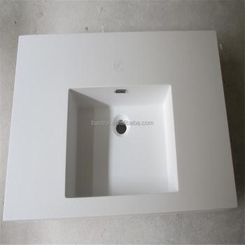 China Top Kwaliteit Badkamer Wastafel Composiet Acryl Stevige ...