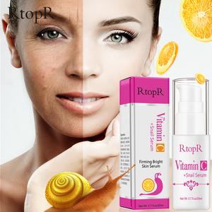 rtopr vitamin c snail serum rejuvenation anti wrinkle firming bright skin repair serum for face ance treatment