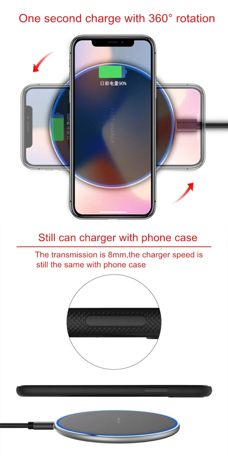 New design manufacturer mobile phone fast charger wireless charger