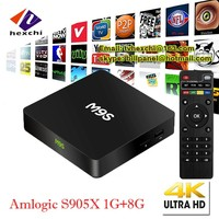 XBMC KODI Quad Core 1G/8G Firmware Update 4K Amlogic S905X M9S Android 5.1 OTT TV BOX