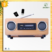 Hot sale the classic handmade natural wood speaker and radio made in chian