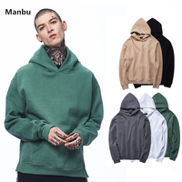 Wholesale blank high quality hoodie oversized split hood sweatshirt hoodies for men