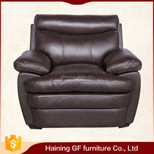 Living room leather single sofa offers amazing comfort