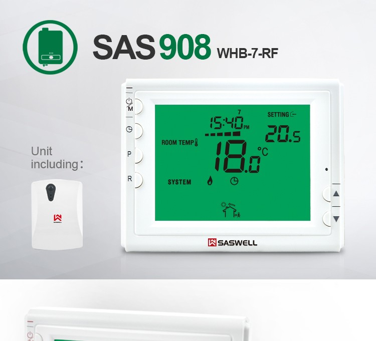 Opentherm boiler 433 mhz smart home draadloze radiator thermostaat