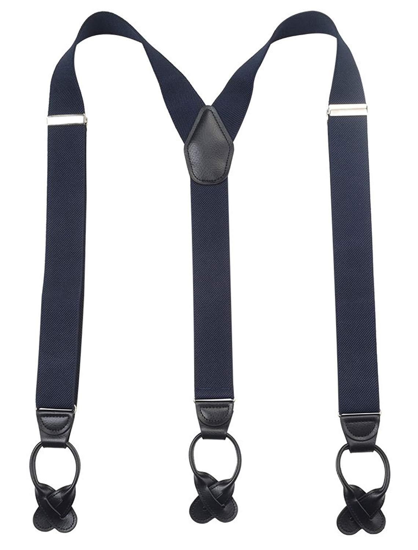 Kat Cheung Bahar Nice Baby Navy White Grid Suspenders Kids Y Back Elastic Braces