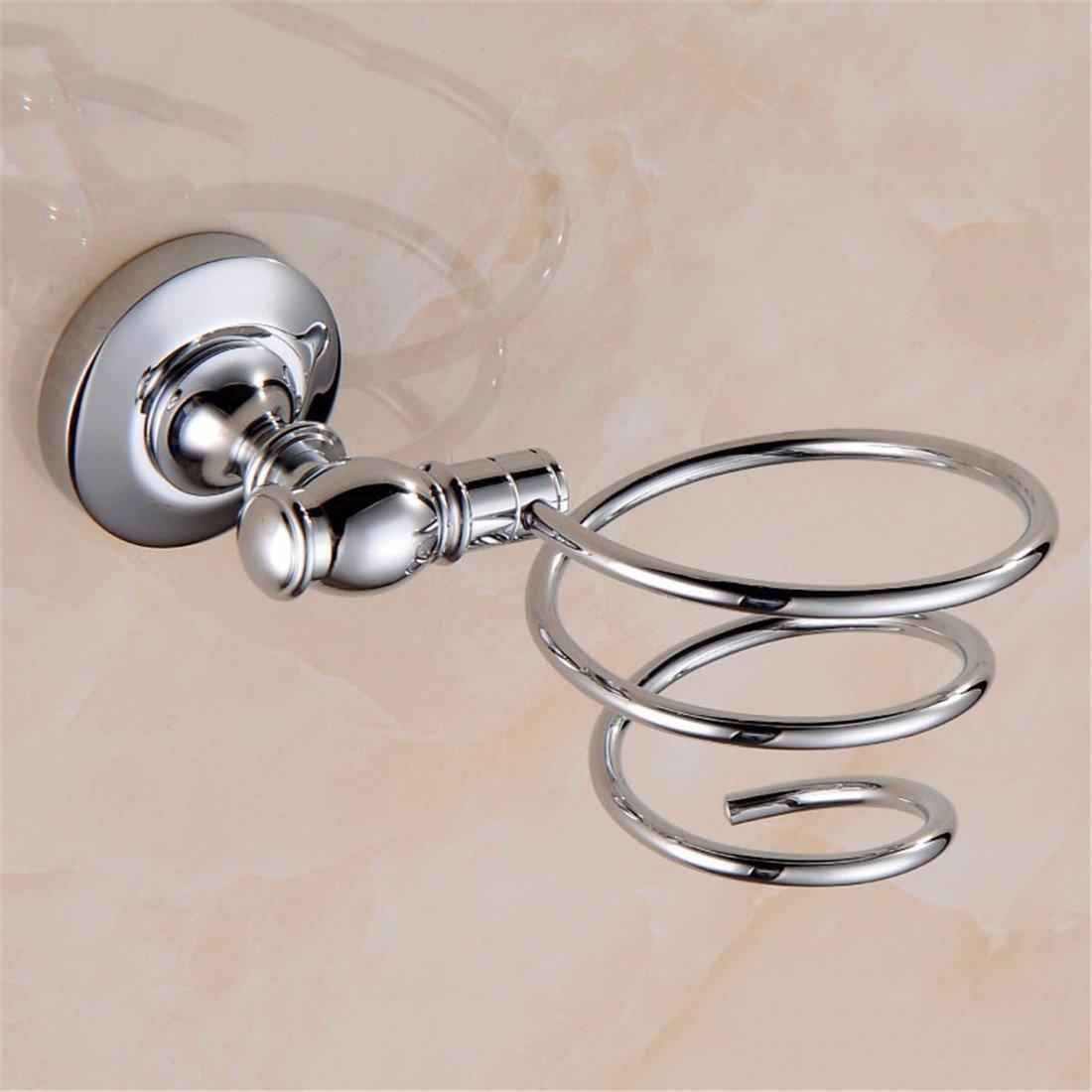 LAONA A contemporary minimalist Brass chrome bathroom accessory kit towel rack double bar corner racks, hair dryer Rack