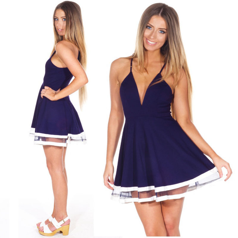 Buy Casual New Sexy Women Chiffon White Dress Tropical Deep V-Neck  Spaghetti Strap Clubwear Skater Mini Dress Vestidos Femininos in Cheap  Price on Alibaba. ... 04d89c63db