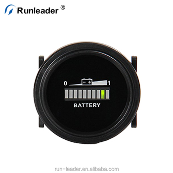 Runleader Round Lead Acid Battery Meter Charge Indicator Discharge Used For Forklift Golf