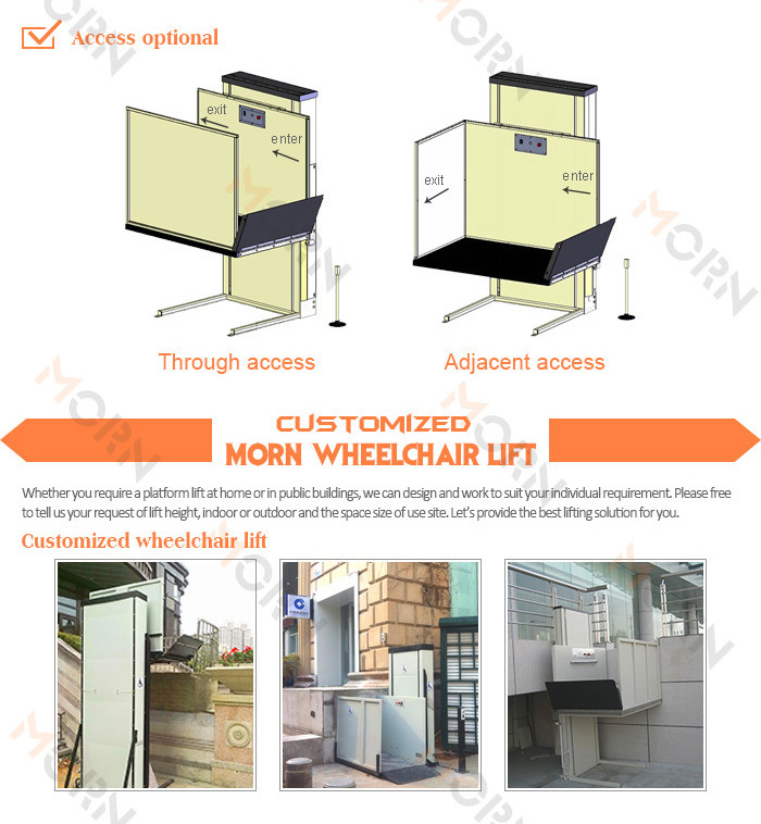 Outdoor Wheelchair Lift Platform Elevator For Disabled - Buy ...