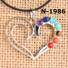 Chakra Pendants Charms Heart Couple Love Latest Design for Women