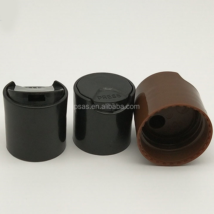 Black color 24/410 28/410 plastic disc top cap