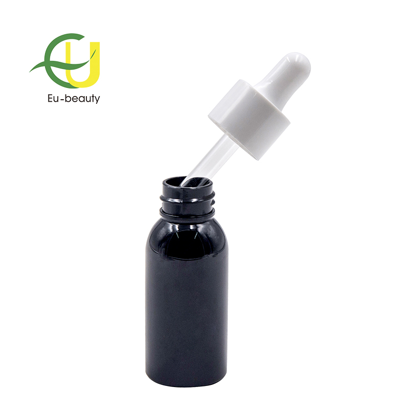 30ml brown cosmetic plastic bottle  essential oil bottles with dropper