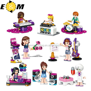 Friends 8pcs Pop Star Music House Building Bricks Blocks Sets Kids Toys Compatible LegoINGly for girl best gift