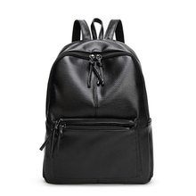 Popular fashion leather school laptop bags backpack for men and women