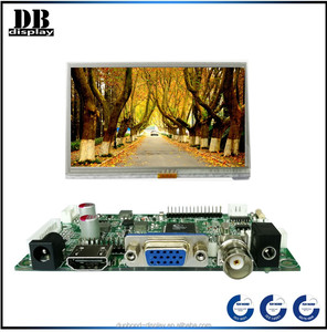 Wide viewing angle 5 inch TFT LCD display 800x480 lcd display for ip phone