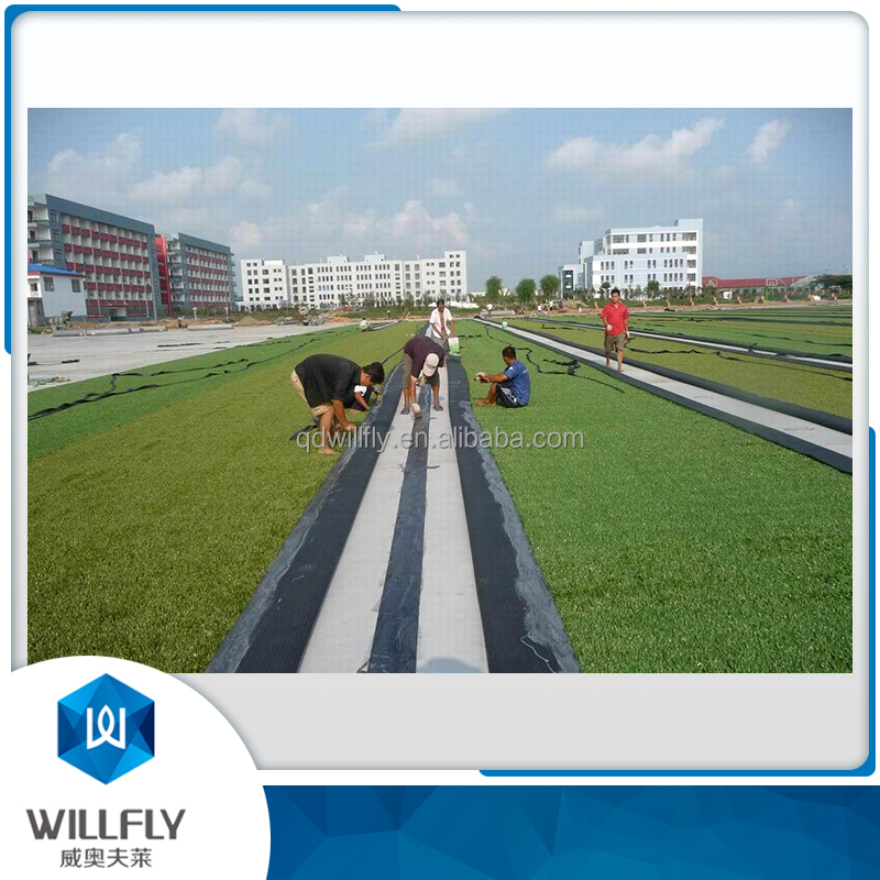 Double component PU adhesive for artificial turf installation