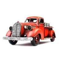 Vintage Home Decor Retro 2020 Christmas Toy Gift Red Blue Diecast Metal Truck Model Craft
