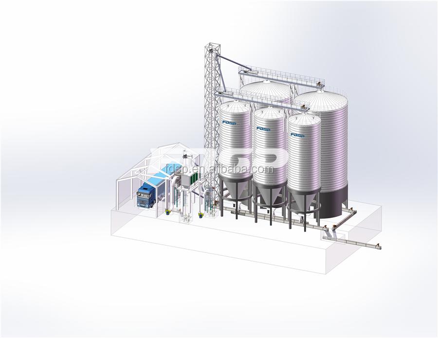 Full good service 1000 ton grain silo coffee bean silo