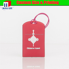 cheap custom made pvc airline baggage tag with embossing custom logo