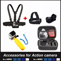 Float monopod Chesty Strap Head strap 3 Size Camera Bag For Gopro Action camera SJCAM SJ4000