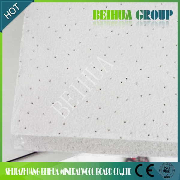 Free Samples 12mm Pin Hole Texture Mineral Fiber Board Light weight Ceiling Board