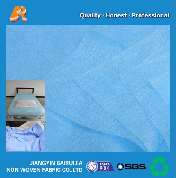 waterproof pp nonwoven fabric bed fabric for disposable bedspread