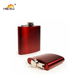 Outdoor Camping red colour painting stainless steel 20oz hip flask