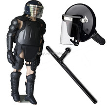 anti riot suit with anti riot helmet with T-baton