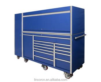 76 Inch Industrial Super Heavy Duty Tool Storage Workshop Cabinet Used  Garage Toolbox Cabinet