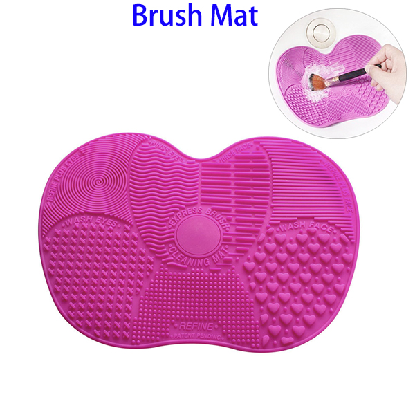 Promotional Gift Silicone Cosmetic Makeup Brush Cleaning Mat Tool