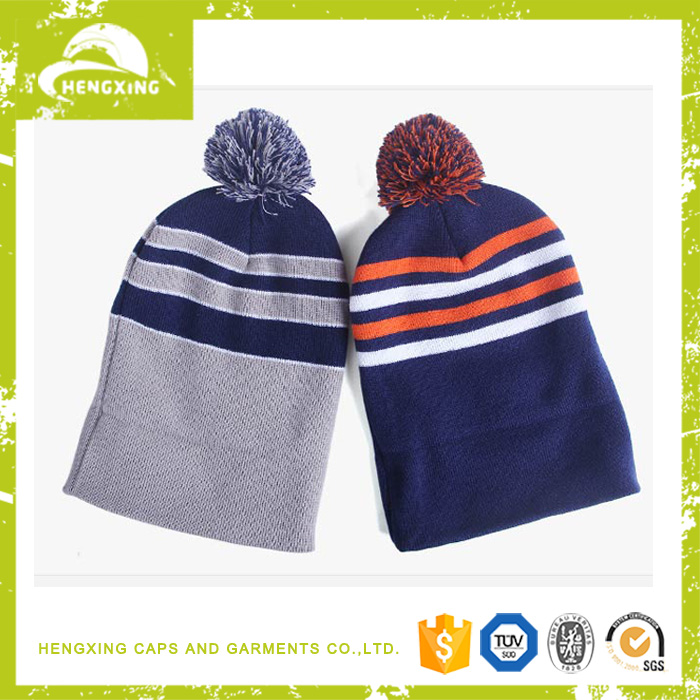 Plastic Pom Pom oem and odm 100% acrylic/cotton beanie