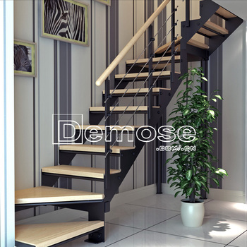 Great Mono Stringer Stair Kits/floating Staircase Kit/china Supplier Stainless  Pipe Stair Handrail
